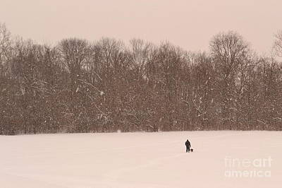 Winter Walk In The Park Print by Amy Lucid