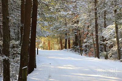 Winter Walking Print by Neal  Eslinger