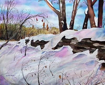 Millbury Painting - Winter Wall  by Scott Nelson