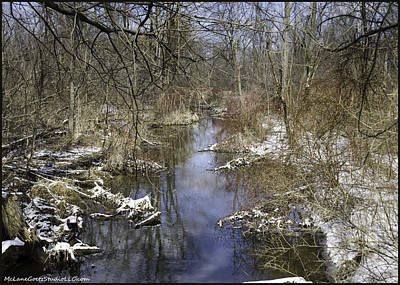 Background Photograph - Winter Water Reflections On Mot by LeeAnn McLaneGoetz McLaneGoetzStudioLLCcom