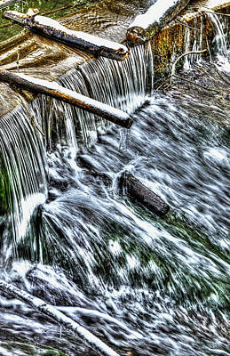 Water Photograph - Winter Waterfall 2 by Nick Field