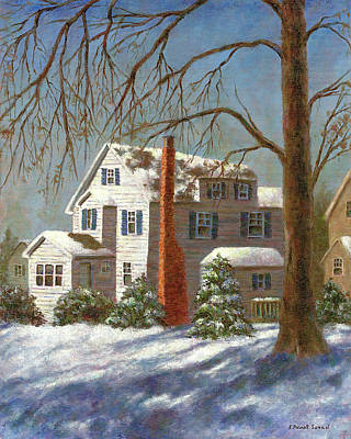 Christmas Painting - Winter White by Susan Savad