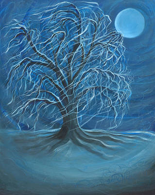 Winter Willow Original by Beckie J Neff