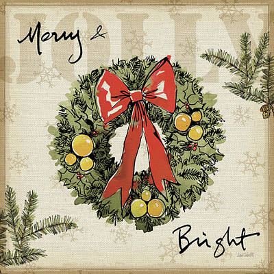 Wreath Painting - Winter Wishes IIi by Anne Tavoletti