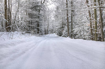 Paths Photograph - Winter Wonderland by Donna Doherty