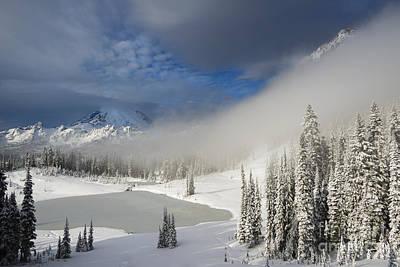 Mt. Rainier Photograph - Winter Wonderland by Mike  Dawson