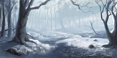 Winter Wood Print by Sean Seal
