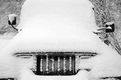Monochrome Photograph - Winter Wrangler by Luke Moore