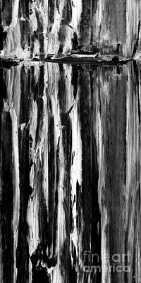 Monotone Painting - Winterlake by Paul Davenport