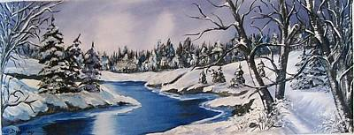 Winterscape Painting - Winter's Blanket by Sharon Duguay