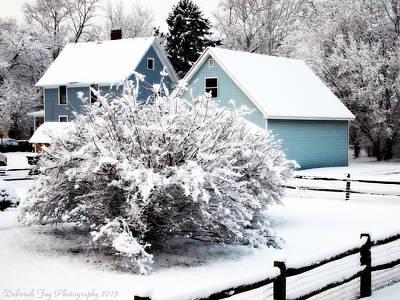 Winters First Snow Print by Deborah Fay