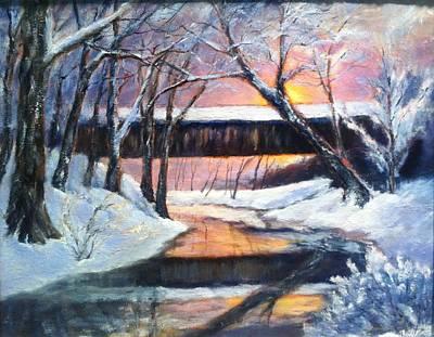 Winter's Glow Print by Gail Kirtz