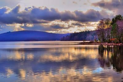 Winters Lake Print by Dave Woodbridge