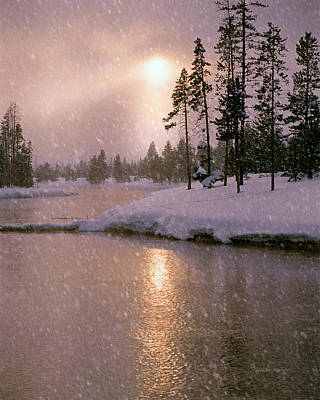 Winters Light Print by Leland D Howard