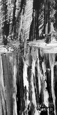 Monotone Painting - Winterwood by Paul Davenport