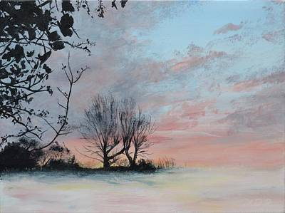 Wintery Sunrise Original by Mike Paget