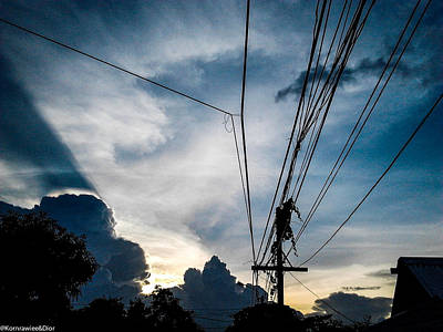 Photograph - Wire Sky by Kornrawiee Miu Miu