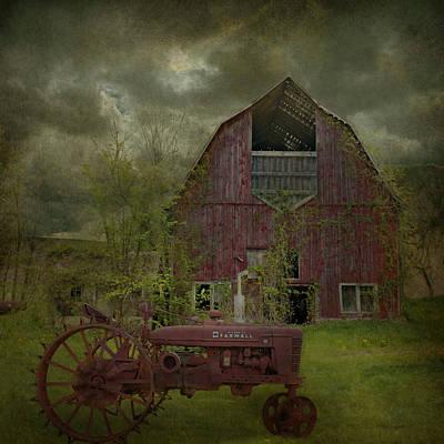 Barns Digital Art - Wisconsin Barn 3 by Jeff Burgess