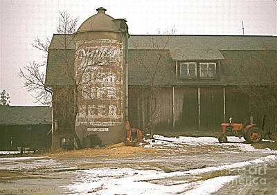 Wisconsin Barn With Silo Print by Robert Birkenes