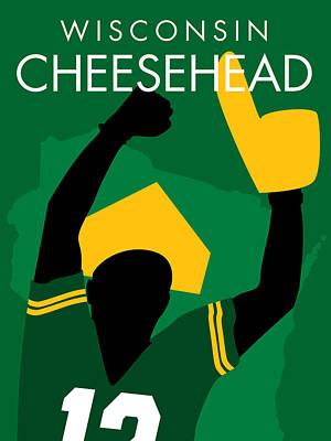 Muskie Digital Art - Wisconsin Cheesehead by Geoff Strehlow