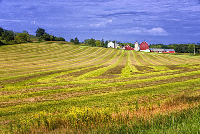 Farm Scene Photograph - Wisconsin Dawn by Joan Carroll