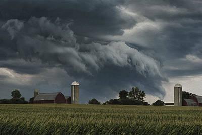 Rustic Digital Art Digital Art - Wisconsin Farm by Jack Zulli