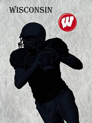 Wisconsin Football Print by David Dehner