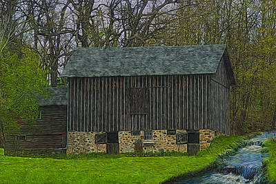 Stone Barn Painting - Wisconsin Rustic 2 by Jack Zulli