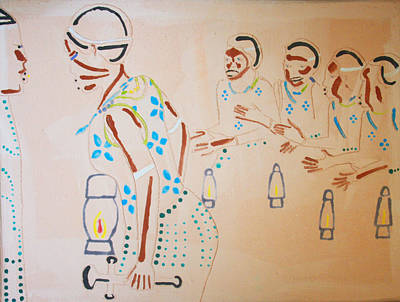 African Contemporary Ceramics Painting - Wise Virgins by Gloria Ssali
