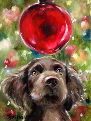 Boykin Spaniel Painting - Wish by Mary Sparrow