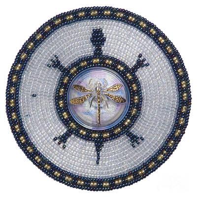 Glass Beads Digital Art - Wishing Pond Turtle by Douglas K Limon