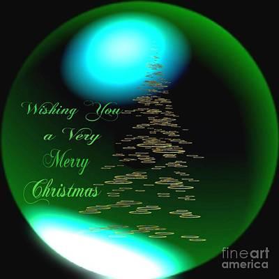 Wishing You A Very Merry Chrirstmas  Print by Gail Matthews