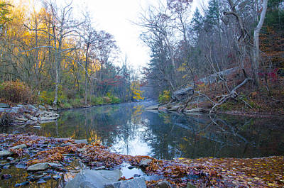 Phillies Photograph - Wissahickon Creek - Fall In Philadelphia by Bill Cannon