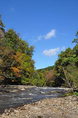 Autumn Photograph - Wissahickon Creek Near Mt Airy Philadelphia by Bill Cannon