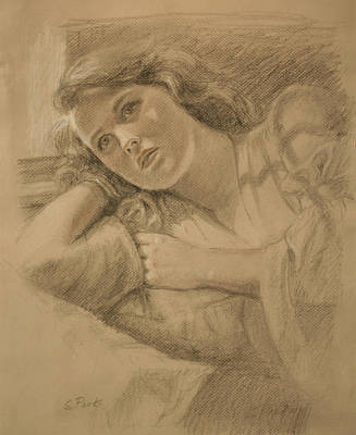 Wistful - Drawing Print by Sarah Parks