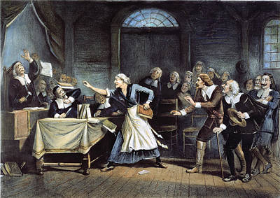 Witch Trial Print by Granger