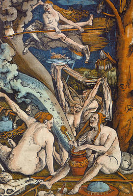 Mysterious Women Painting - Witches by Hans Baldung Grien
