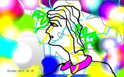 Taikan Digital Art - With A Dreamy Look by Taikan Nishimoto