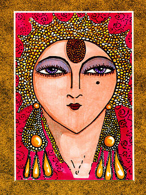 With Apologies To Erte #1 Print by Londie Benson