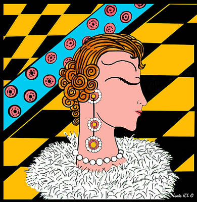 With Apologies To Erte #2 Maisie Print by Londie Benson