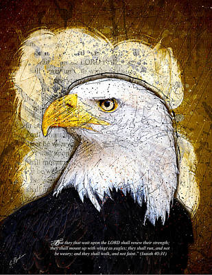Eagle Digital Art - With Wings As Eagles by Gary Bodnar