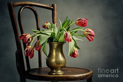 Chairs Digital Art - Withered Tulips by Nailia Schwarz