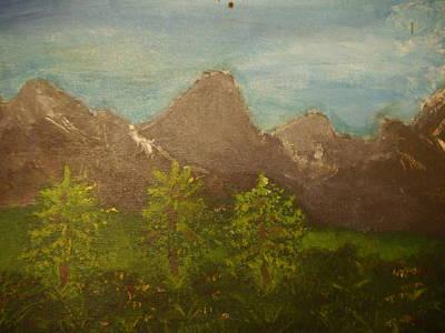 Joshua Massenburg Painting - Within The Mountains by Joshua Massenburg
