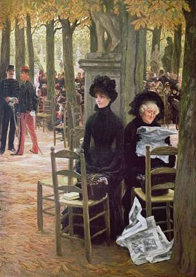 Chaperone Photograph - Without A Dowry Sans Dot, 1883-5 by James Jacques Joseph Tissot