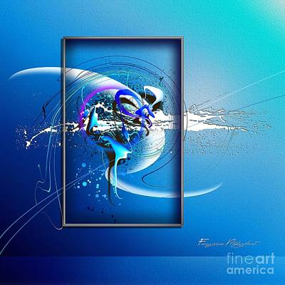 Blue Digital Art Digital Art - Without Limitation by Franziskus Pfleghart