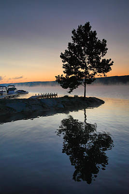 Finger Lakes Photograph - Witness To The Dawn by Steven Ainsworth