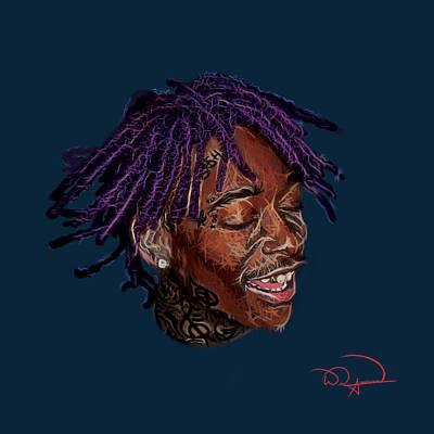 Wiz Digital Art - Wiz Khalifa by Will Anderson