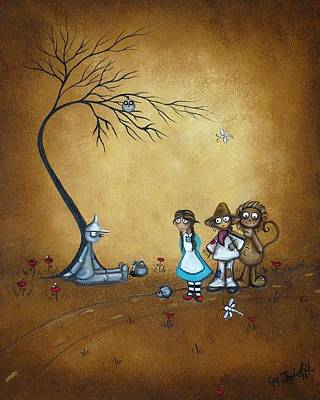 Wiz Painting - Wizard Of Oz - He Said Oil Can by Charlene Zatloukal