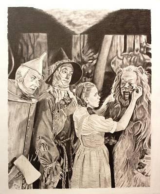 Tornado Drawing - Wizard Of Oz by Randy Mitchell