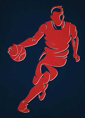 Wizards Basketball Player1 Print by Joe Hamilton